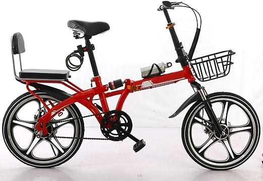 XYSQ Una Sola Velocidad Bicicleta Plegable Bicicleta De 20 ...