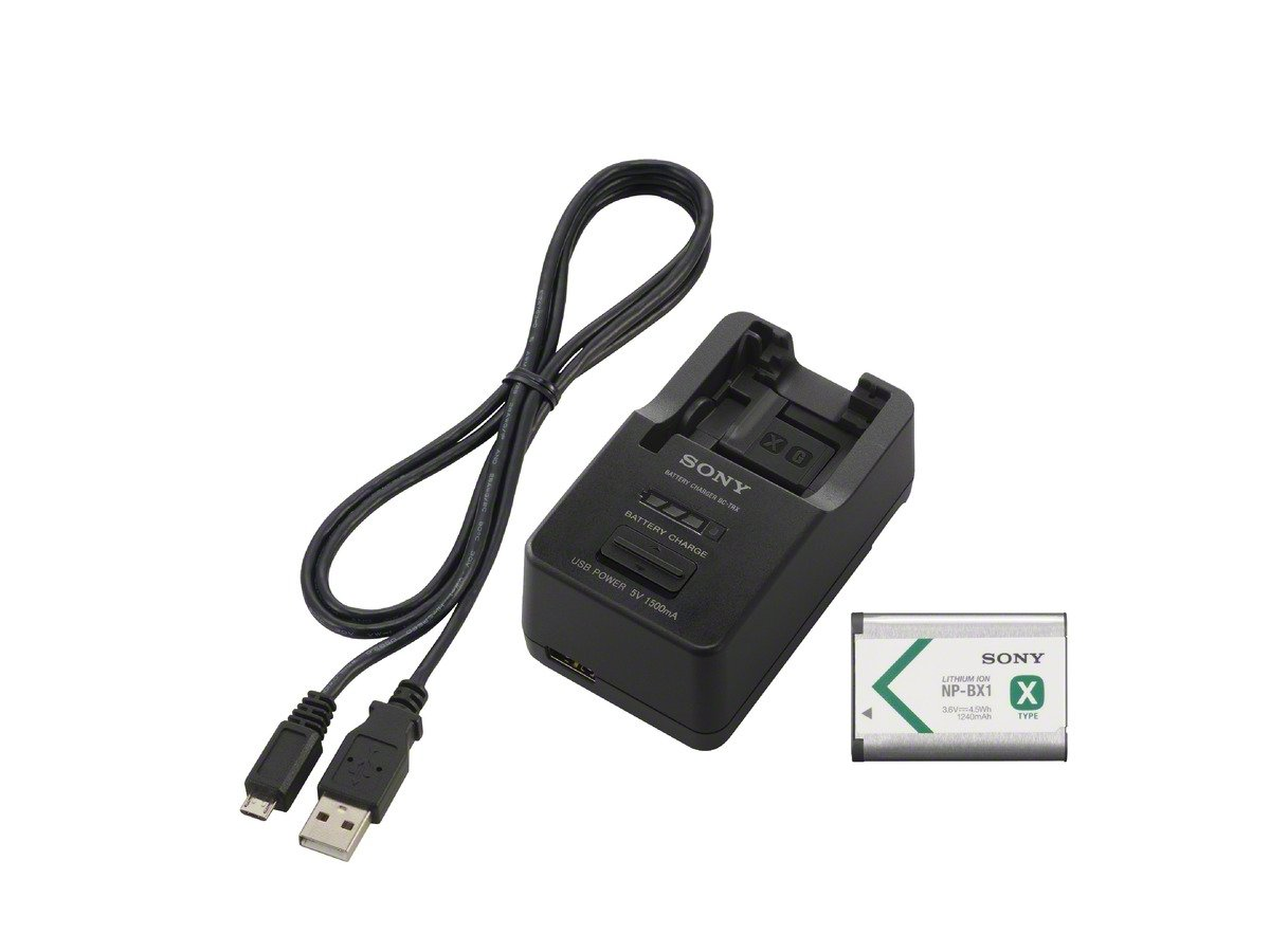 Sony ACCTRBX  Battery Charger, Battery  and USB Cable (Black) by Sony