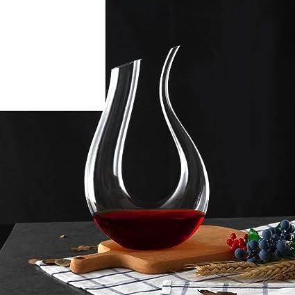 Jarra de vino,vino en forma de u,vidrio de cristal sin plomo del