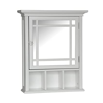 Charmant Elegant Home Fashions Neal Collection Mirrored Medicine Cabinet, White