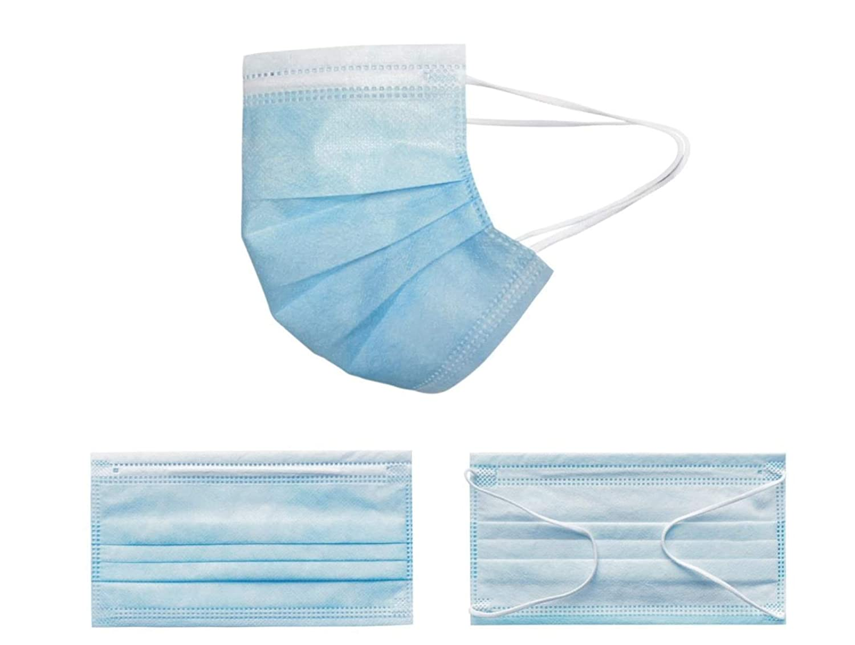 TBC Mascarilla Desechable de Higiene de 3 Capas, Paquete de 50