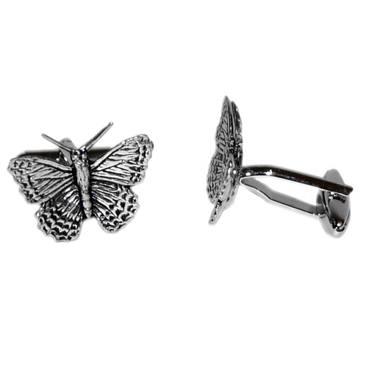 Pewter Butterfly Cufflinks