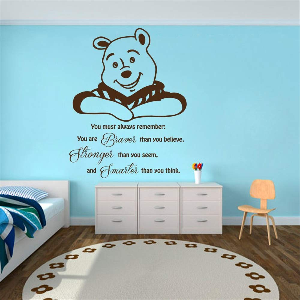 Amazon Com Wall Decal Quote Winnie The Pooh Vinyl Sticker