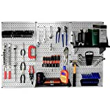 WALMP Wall Control 30-WRK-400GB Standard Workbench Metal Pegboard Tool Organizer