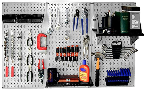 Wall Control 30-WRK-400GB Standard Workbench Metal Pegboard Tool Organizer by Wall Control