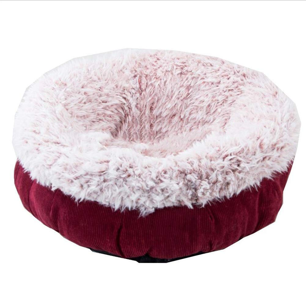 RED Small RED Small Pet Sofa Pet Bed Cat Kennel Kennel Cat Nest Pet Nest Dog Nest Closed Winter Warm Small Medium Pet Haiming (color   RED, Size   S)
