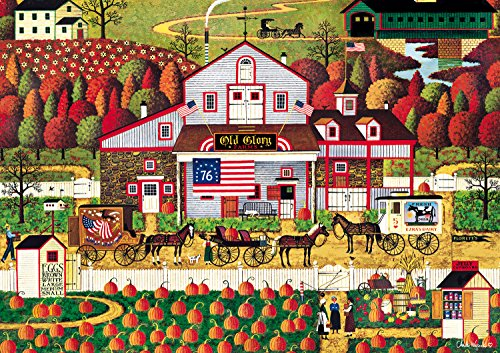 Buffalo Games Autumn Farms by Charles Wysocki Jigsaw Puzzle (500 Piece)