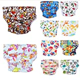 Baby Diaper Pants, 10 Pack Washable Reusable Baby Infant Cloth Pocket Nappy,Adjustable Size Fits Babies 0-24 Months, 6.5-25 Lbs
