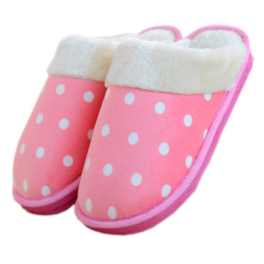 Womens Indoor Warm & Cozy Plush House Slipper, Pink Blancho Bedding