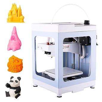 3Dプリンタ本体完成品小型家庭用3Dプリンター組立て済み軽量コンパクトPLAフィラメント造形サイズ11×11×12.5cm日本語マニュアル&日本語メニュー初心者(薄い青)