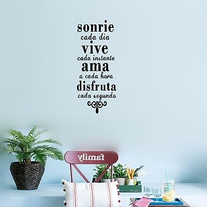 Amazon.com: earck Wall Sticker Quotes Inspirational Spanish ...