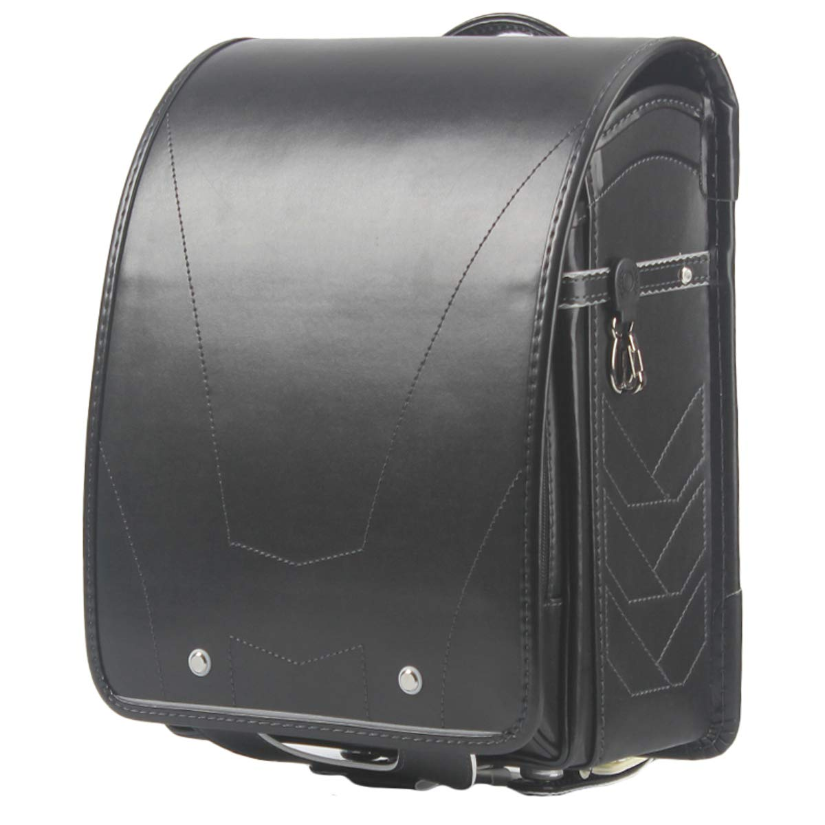 randoseru ransel bag Japanese school bag Semi-automatic satchel for girls and boys Large capacity light weight Rain Cover (New Black35 x 26 x 15cm) by MilWorld