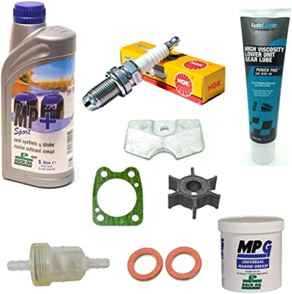 SSI Marine Service Maintenance Kit 4 hp 4 stroke F4A impeller anode for Yamaha outboard engine