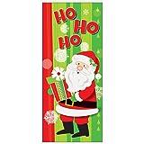 Unique Party 49837Kunststoff Happy Santa Weihnachten Tür Poster, 152,4x 68,6cm