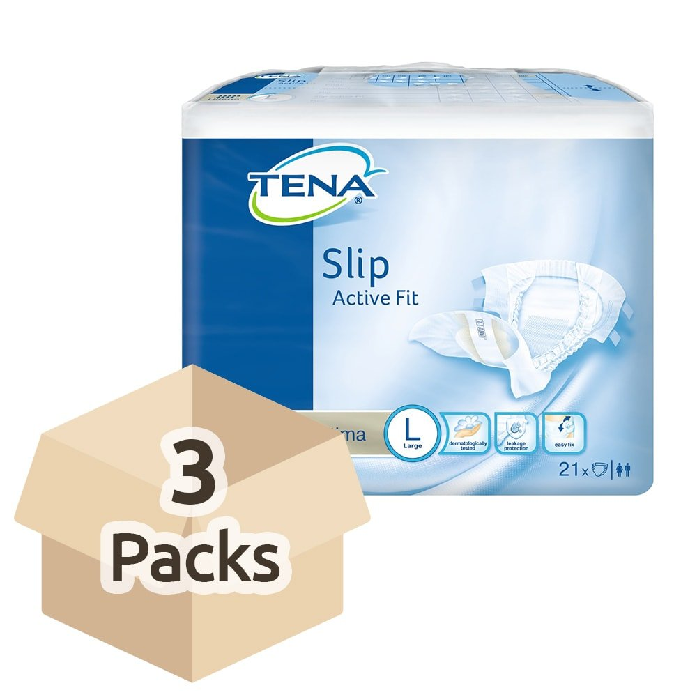 Tena Slip Active Fit Ultima Large - Case Saver 3 Packs of 21