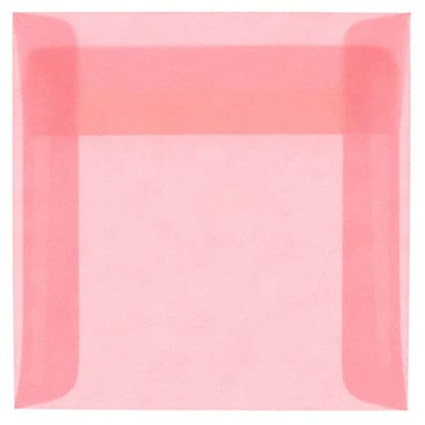 Amazon.com: JAM Blush Rosa Translúcido vitela sobres de ...