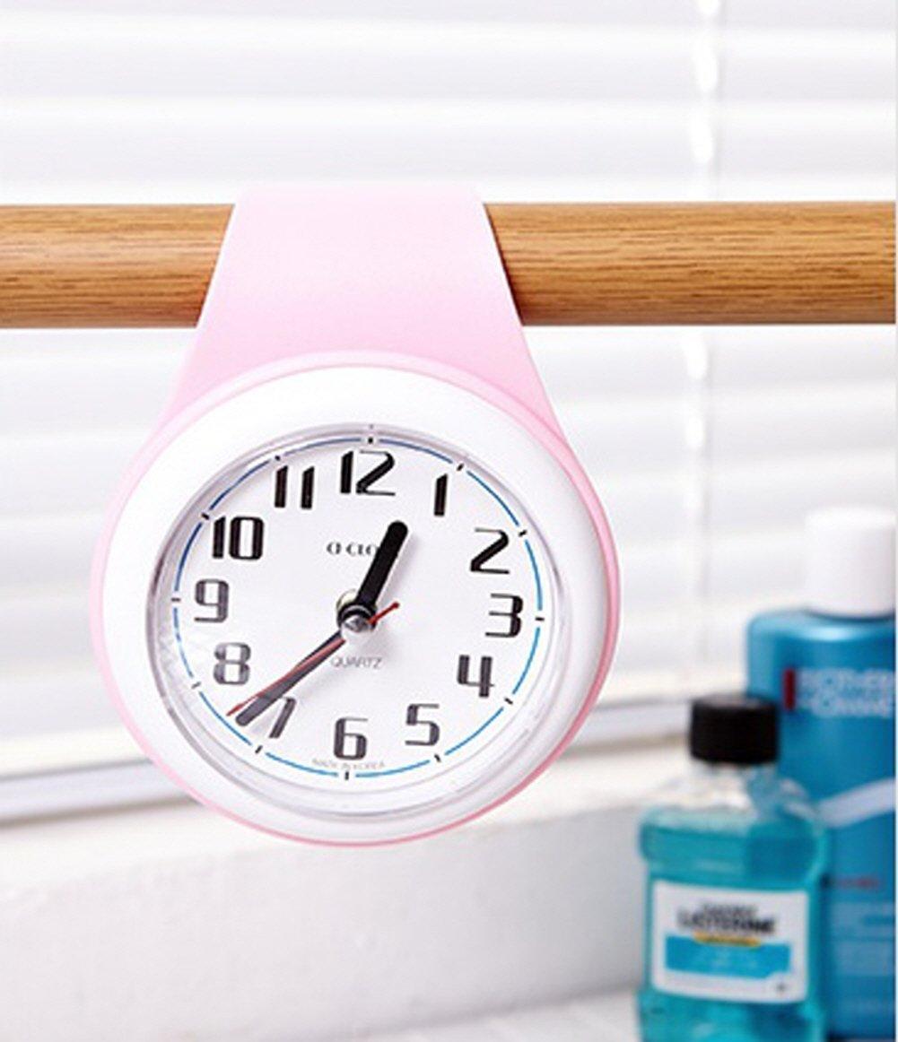 10,5/x 4/x 21/cm Upit Forme de goutte deau r/ésistant /à leau Horloge Rose 10.5/x 4/x 21/cm