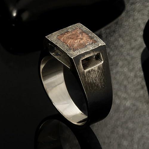 Fresh Amazon.com: Rustic mens ring, Unique men's ring, Signet ring, Mens  TC95