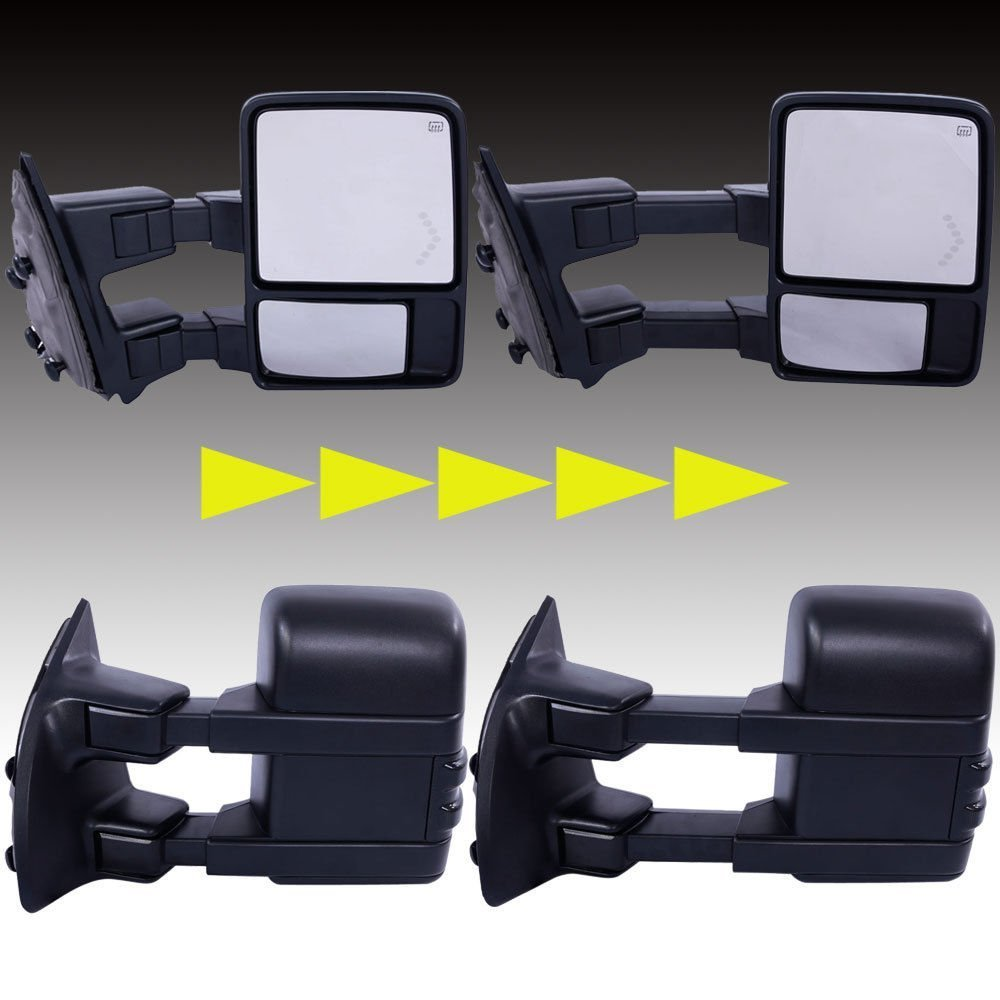 Upgrade Towing Mirrors for 1999-2007 Ford F250 F350 F450 F550 Super on 2000 gmc sierra headlight diagram, 2000 ford focus headlight diagram, 2005 dodge magnum headlight diagram,