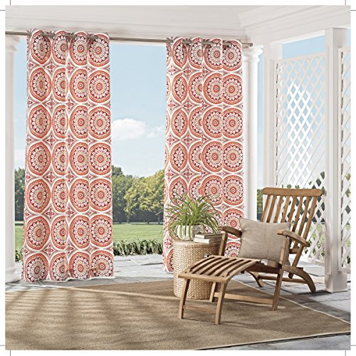Parasol 15934052084SPC Cayman 52-Inch by 84-Inch Indoor / Outdoor Single Window Curtain Panel, Spice (Curtains Sunroom)