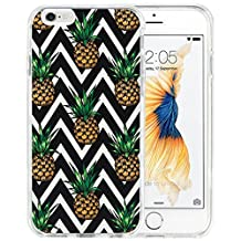 iPhone 6s Case iPhone 6 Case TPU Non-Slip High Definition Printing Personalized Black Chevron Pineapple Pattern