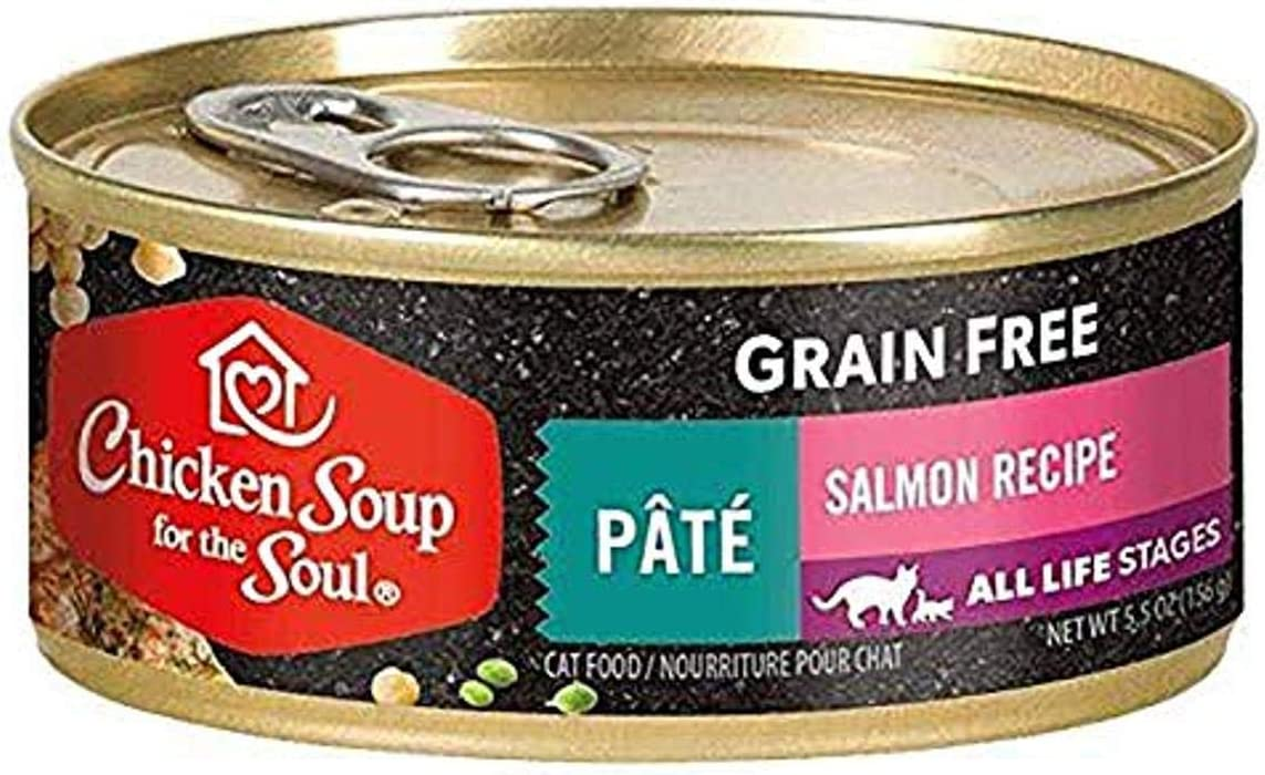 Chicken Soup for The Soul Salmon & Chicken Recipe Cuts in Gravy Grain-Free Canned Cat Food