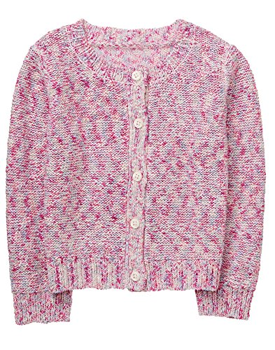 Gymboree Baby Girls Long Sleeve Marled Cardigan, Petal Pink, - Cardigan Sweater Gymboree