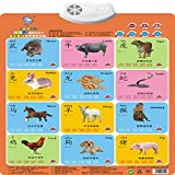 Wall Chart,NACOLA Baby Early Education Audio Digital Learning Chart Preschool Toy, Sound Toys For Kids-Chinese Zodiac