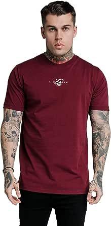 Camiseta SikSilk para hombre, color vino: Amazon.es: Ropa