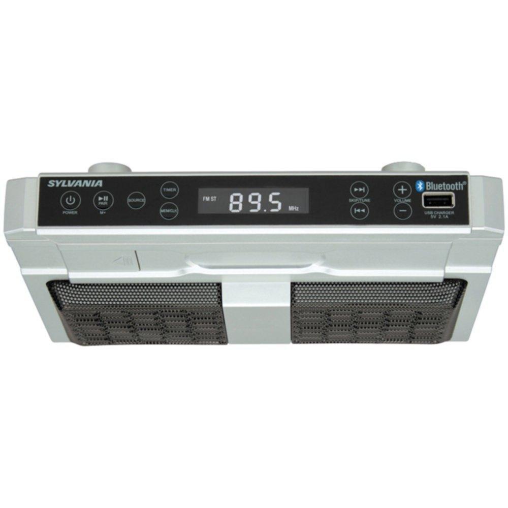 SYLVANIA SKCR2810BT Bluetooth(R) Undercounter Kitchen Radio consumer electronics