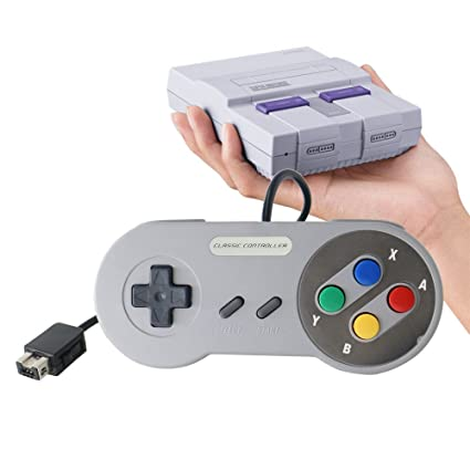 AZFUNN Replacement SNES Classic Gamepad, Wired Controller Joypad with 5 5ft  Cord for Nintendo Super NES Classic Edition