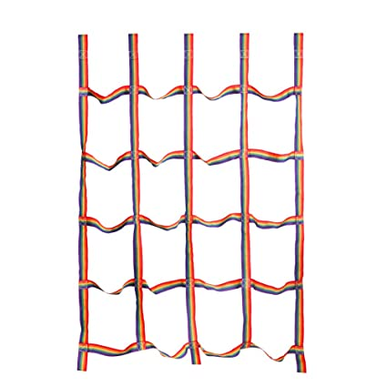 letsgood Colorful Climbing Cargo Net, Outdoor Backyard Play Sets & Playground Equipment for Ninja Line, Jungle Gyms, Swing Set, Ninja Warrior Style ...
