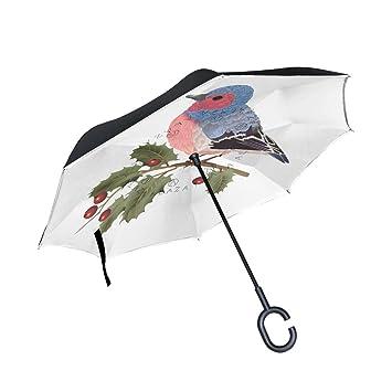 hengpai - Paraguas inverso de sandía de Flamenco de Verano invertido en el Interior del Coche