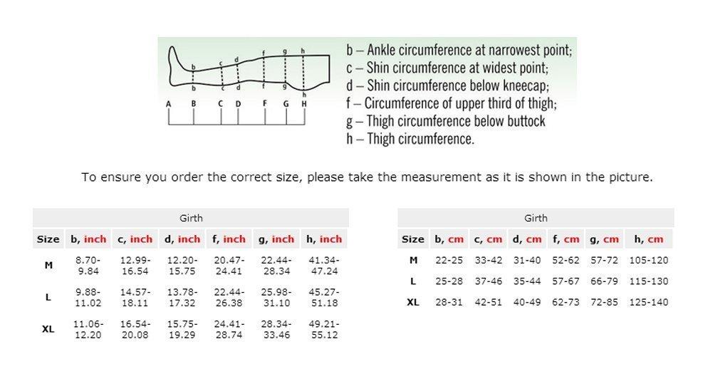 23//–/32/mmHg ottima qualit/à compressione Collant nero L Per maggiore Circonferenza fianchi LUX elastica medica classe 2/
