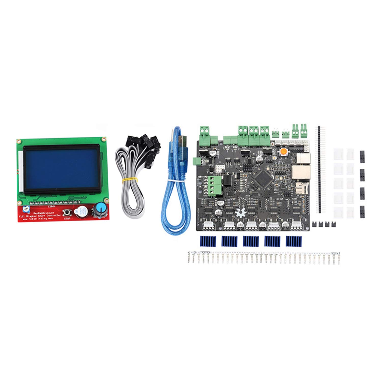 REFURBISHHOUSE Impresora 3D Smoothieboard 5X V1.1 + 12864 Kit de ...