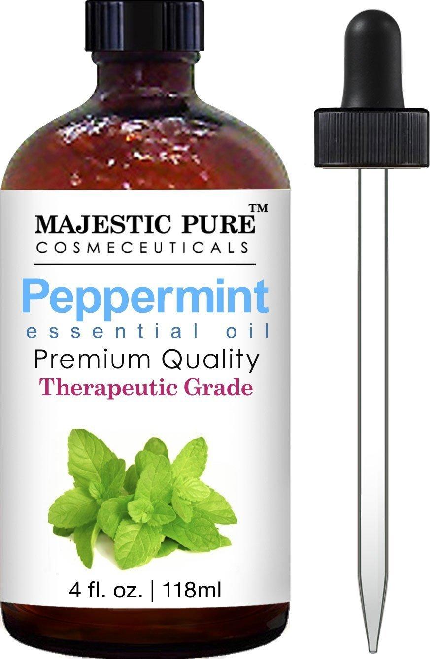 Majestic Pure Therapeutic Grade Peppermint Essential Oil With Dropper 4 Oz / .. 10