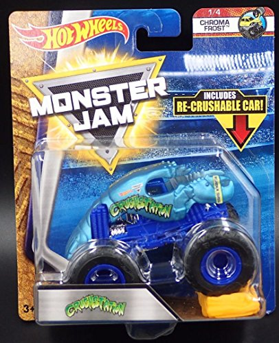 CRUSHSTATION HOT WHEELS MONSTER JAM CHROMA FROST 1/4 w/ RE-CRUSHABLE CAR - 2018 CASE A