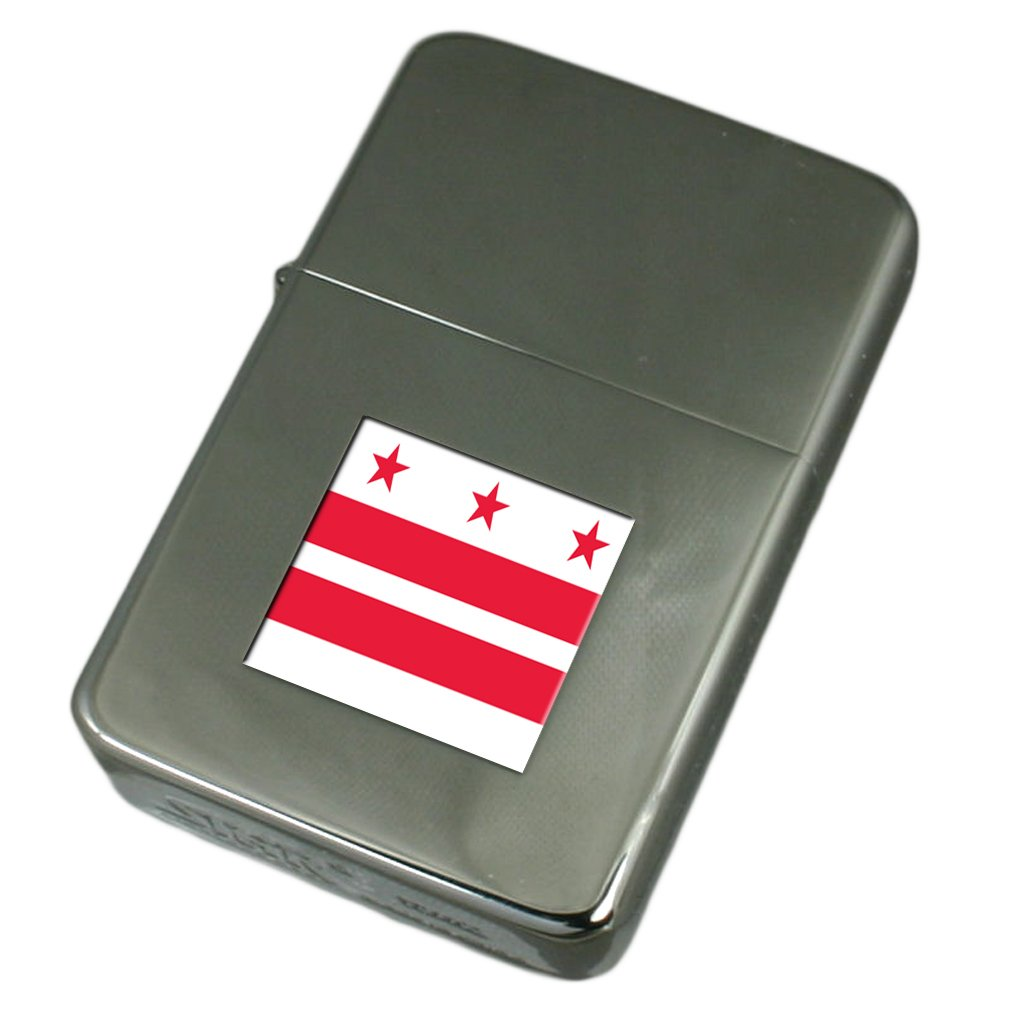 Engraved Lighter Washington City USA Flag
