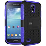 Galaxy s4 Case, Samsung Galaxy s4 Armor Cases | Tough Armorbox Dual Layer Hybrid Hard/Soft Protective Case by Cable and Case | Purple Armor Case
