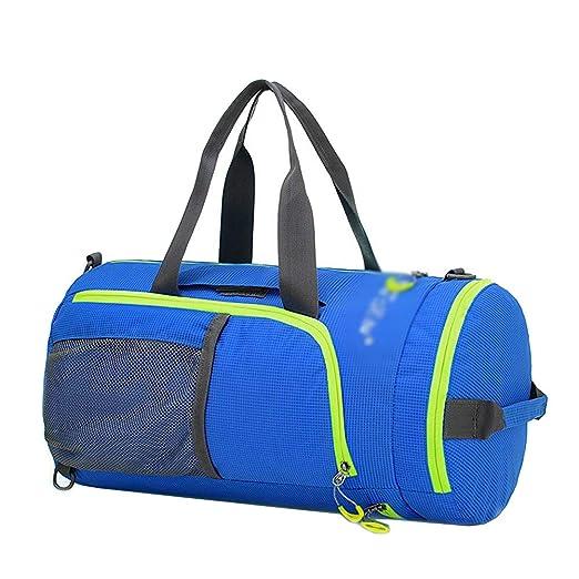 698168de366 EchoFun Waterproof Nylon Duffel Bag Foldable Travel Luggage Barrel Gym Bag  Holdall Sports Drybag Packable Backpack