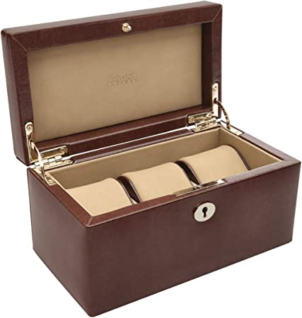 Dulwich Designs Windsor - Caja de Reloj (3 Unidades), Color marrón: Amazon.es: Hogar
