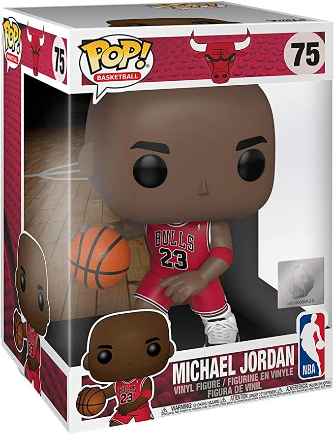 Pop Nba Bulls 10 Inch Michael Jordan Red Jersey Amazon De Spielzeug