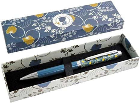 Bolígrafo decorativo para mujer en caja - Diseño Jane Austen Azul: Amazon.es: Oficina y papelería