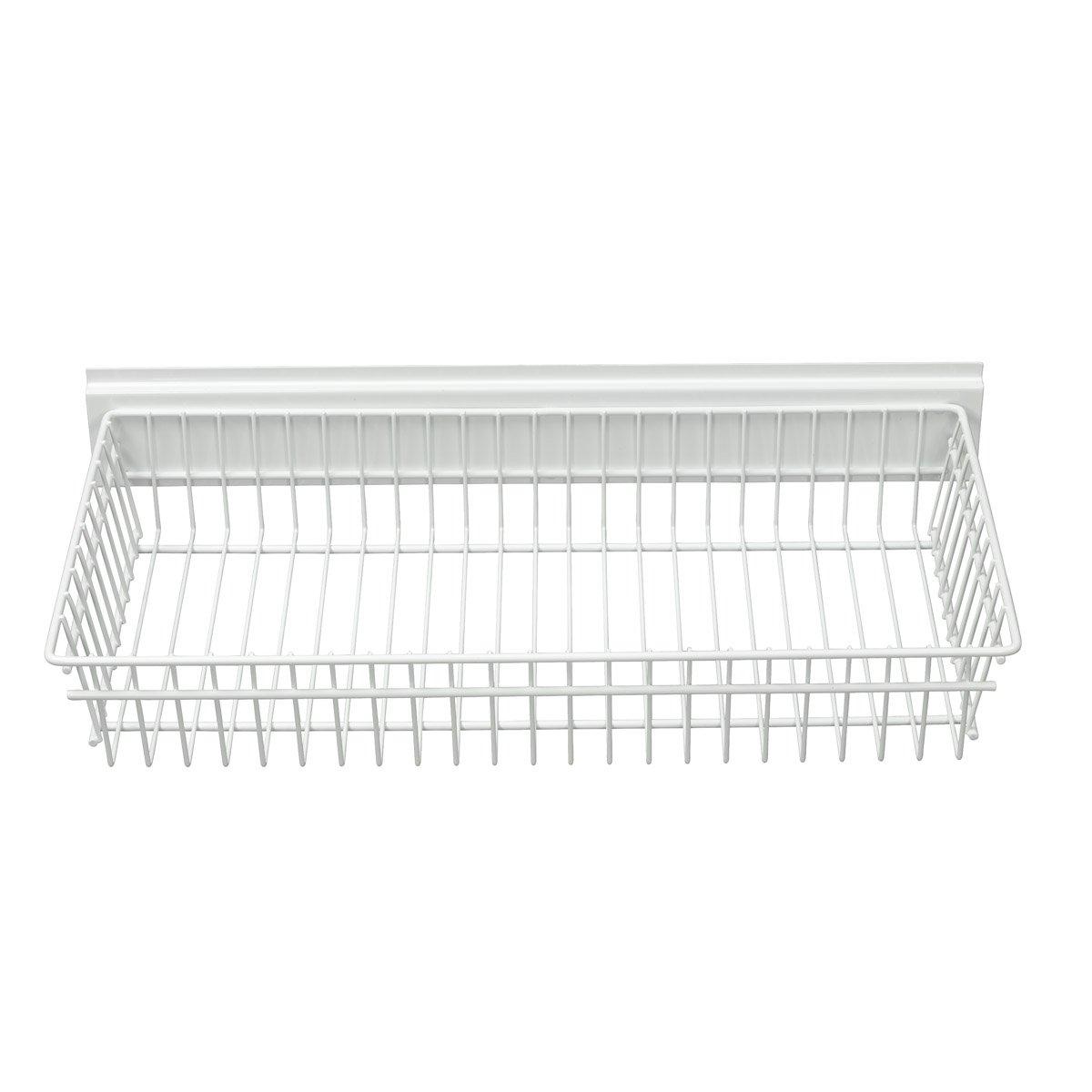 Garage Tek Shallow Basket for Garage, Kitchen, Office Storage, Mounts on TekTrak and Wall Panel Products GarageTek Inc GT4003E