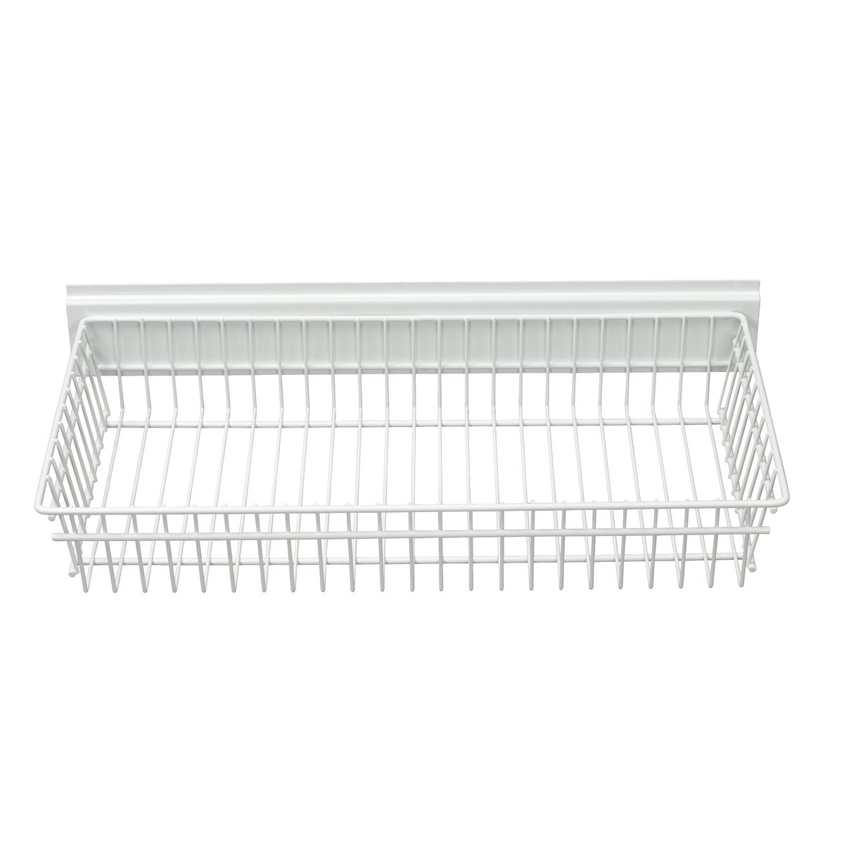 Garage Tek Shallow Basket for Garage, Kitchen, Office Storage, Mounts on TekTrak and Wall Panel Products