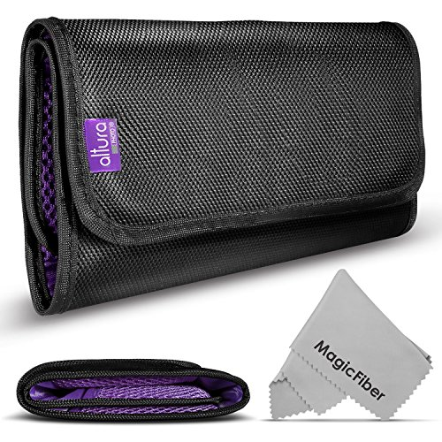 6 Pocket Filter Wallet Case for Round or Square Filters + Premium MagicFiber Microfiber Cleaning Cloth from Altura Photo