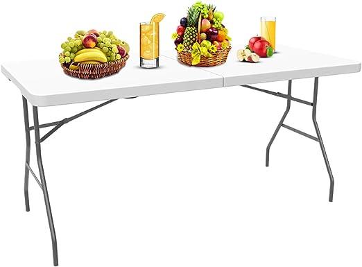 Sotech Table Pliante Table En Plastique Robuste Table Pliante Transportable Traiteur Pliante Table Matériau Hdpe Charge Maximale 100 Kg 180 X