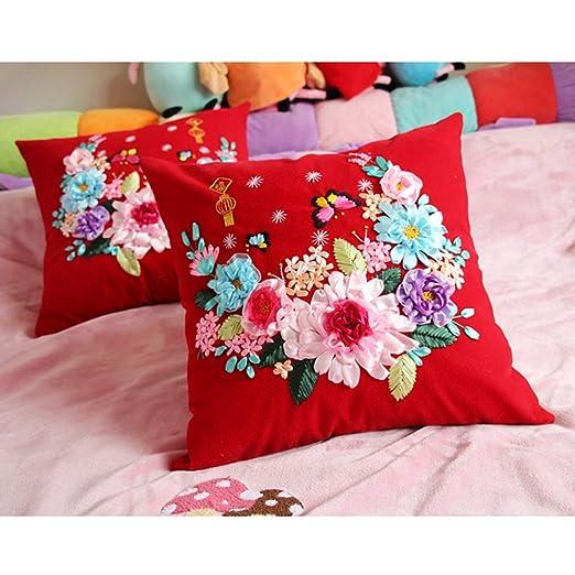 sharprepublic Colorido Flor y Planta de Funda de Almohada ...