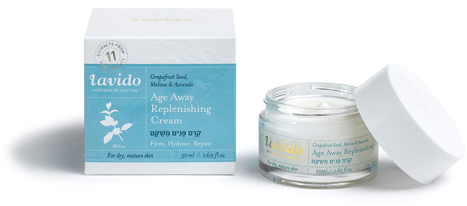 Lavido - Natural Age Away Replenishing Cream | Boosts Collagen, Reduces Fine Lines