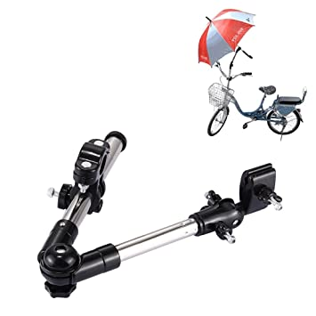 Soporte para paraguas totalmente ajustable, de T2O®, con sistema de montaje para carro de golf, silla de ruedas, silla de paseo, etc.